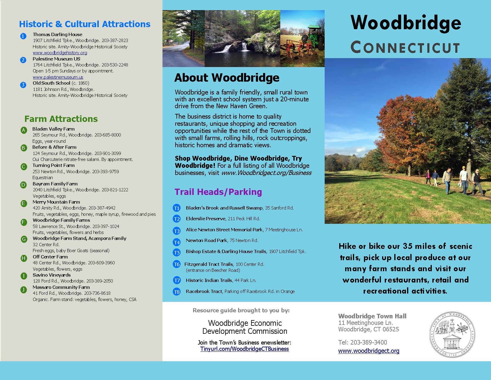 Woodbridge Agriculture, Trails and Retail Brochure page 1