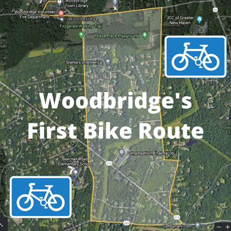 Woodbridge bike route map