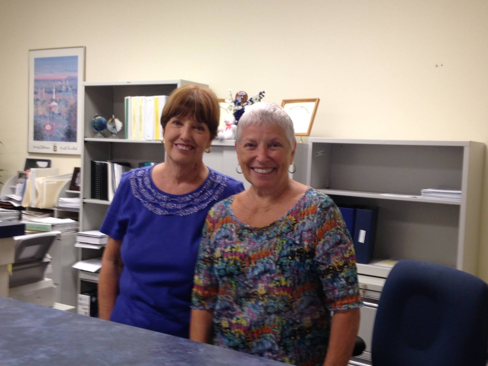 Tax Collector Pat Crisco and assistant collector Linda Cahill