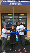 Tia Murray, Ellen Scalettar and Braxton Darden at the grand opening